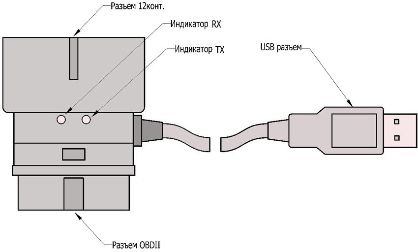 схема подключения адаптера К-линии S7000-I